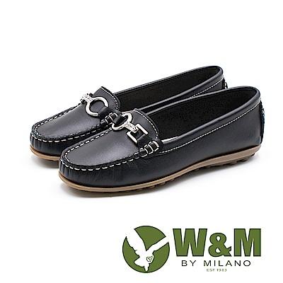 W&M 可水洗舒適柔軟莫卡辛鞋 女鞋-黑(另有粉)