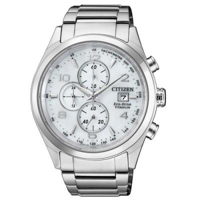 CITIZEN 星辰光動能超級鈦計時腕錶--銀42mm(CA0650-82A)