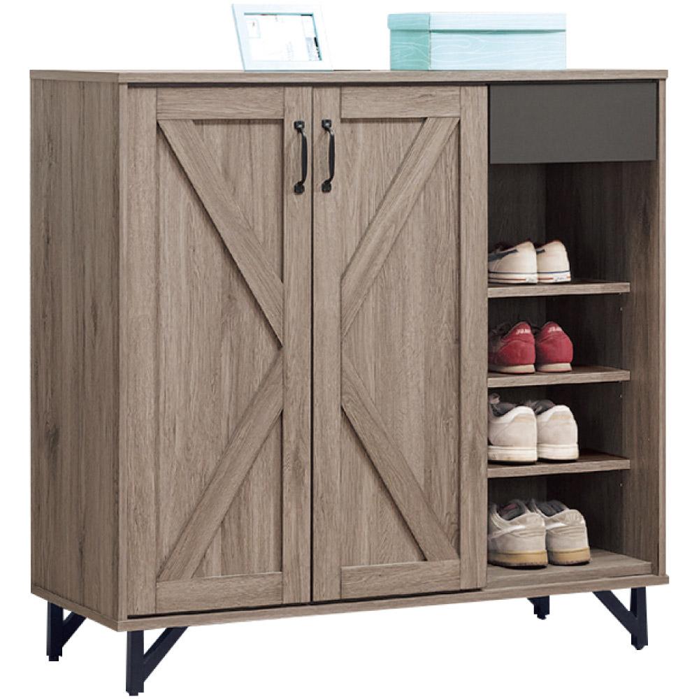 綠活居 馬布斯時尚3.8尺二門鞋櫃/收納櫃-114x40x109cm免組