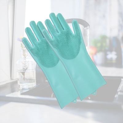 熱銷加厚多魔潔5入 耐高溫廚房魔術矽膠 隔熱 護膚清潔 防滑防割  起泡王魔術手套