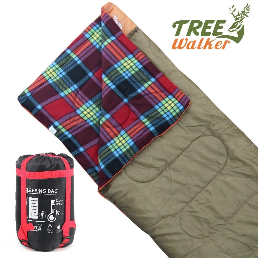 TreeWalker 露遊暖心法蘭絨禦寒睡袋-兩色可選