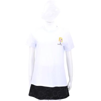 Chiara Ferragni @cfmascotte IG女孩刺繡白色短袖棉質TEE T恤