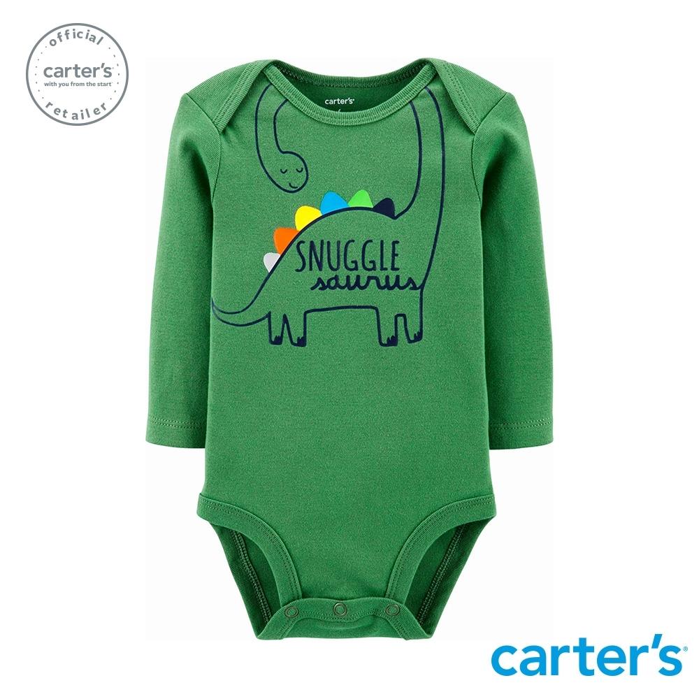 Carter's台灣總代理 恐龍撒嬌印圖包屁衣(綠)
