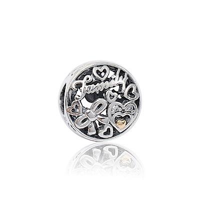 Pandora 潘朵拉 14k金魅力家庭 純銀墜飾 串珠