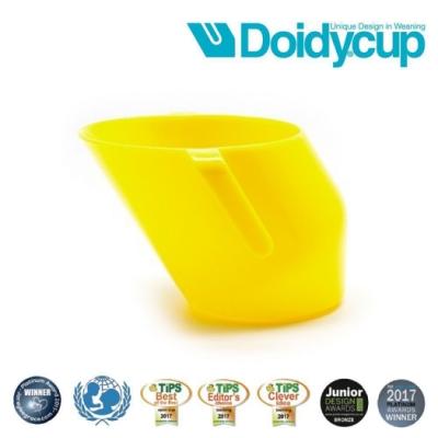 【英國Doidy cup】彩虹學習杯/訓練杯/刷牙杯-萊姆黃(專利造型設計 喝水看的見)