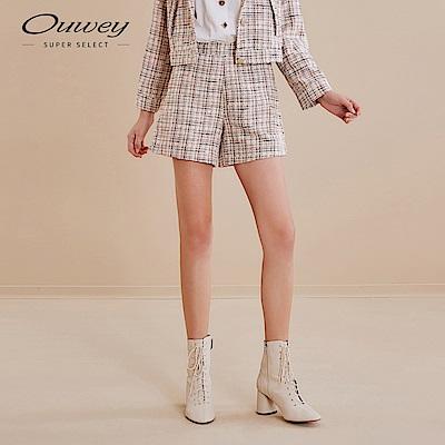 OUWEY歐薇 典雅都會小香風短褲(粉)