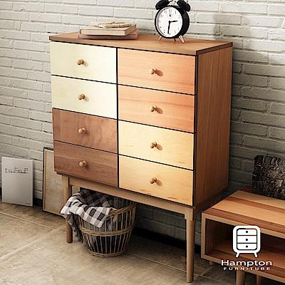 漢妮Hampton米緹日式拼木八斗櫃-76x30x100cm