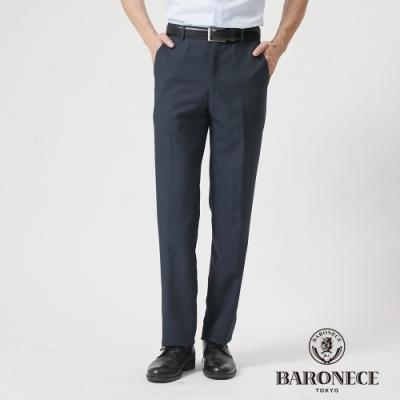 BARONECE 百諾禮士休閒商務  男裝 功能性竹碳平口西裝褲--藍色(1188859-38)