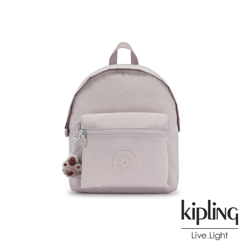 Kipling 優雅高級灰造型簡約後背包-REPOSA