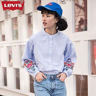 Levis 襯衫 女裝 復古花紋 刺繡