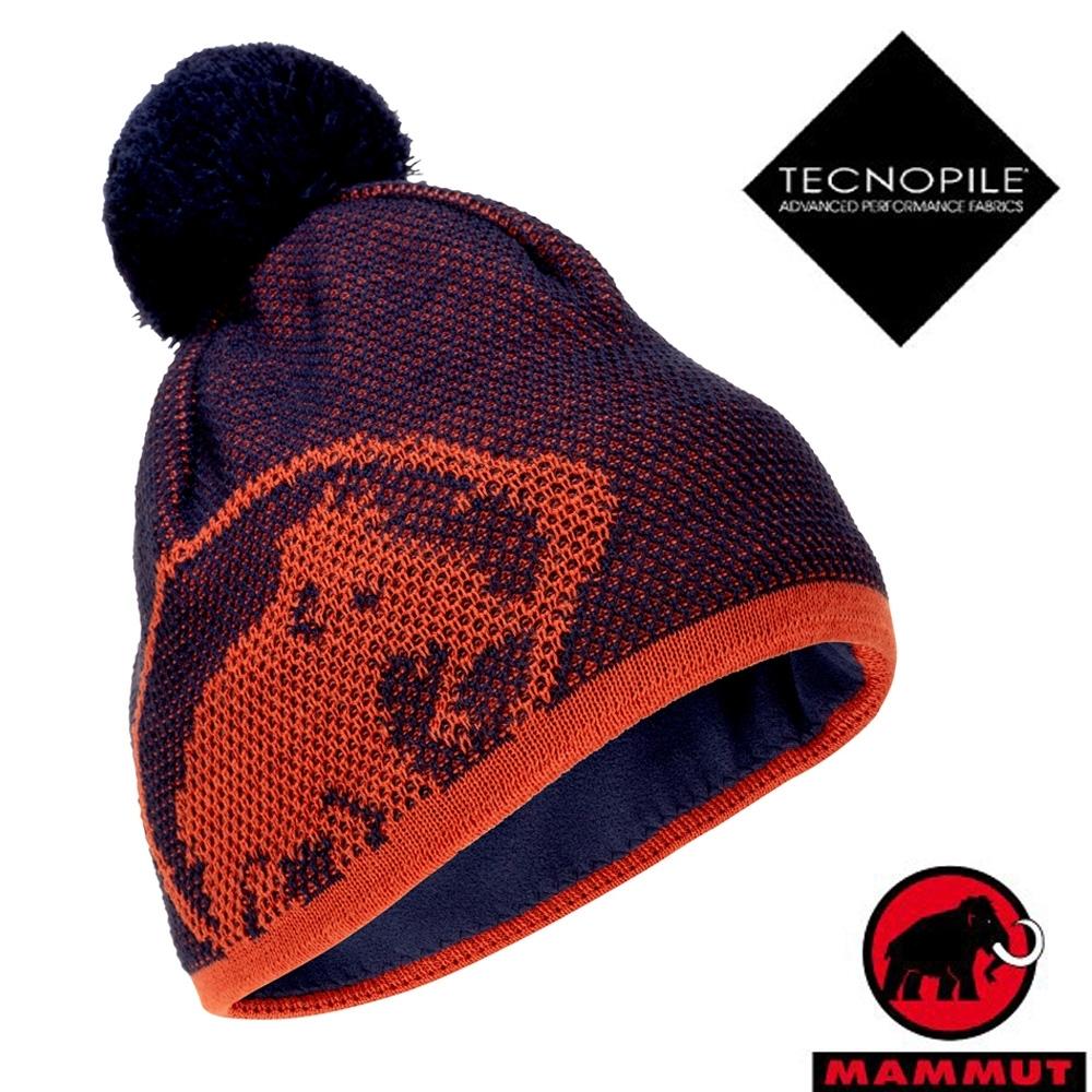 長毛象 Snow Beanie 超輕彈性雙層針織保暖羊毛帽_水鴨藍/椒橙