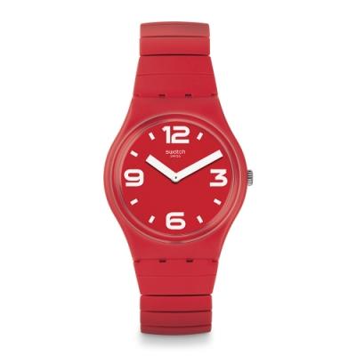 Swatch Gent 原創系列手錶 CHILI S 辣椒紅-34mm