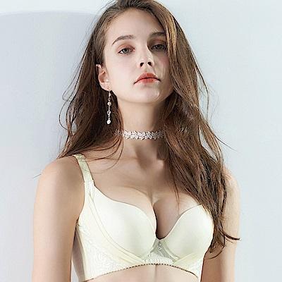 EASY SHOP-輕舞悸動 大罩杯B-E罩成套內衣(百合白)