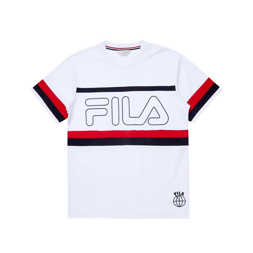 FILA 男圓領T恤-白色 1TEU-1444-WT