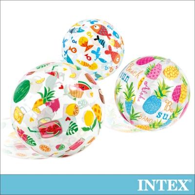 INTEX 熱帶風沙灘球-直徑51cm(隨機出貨)適用3歲+(59040)