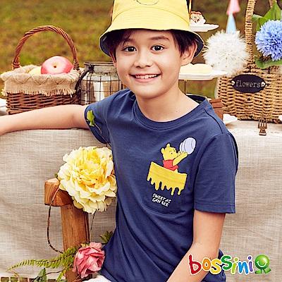bossini男童-小熊維尼印花短袖T恤01海軍藍