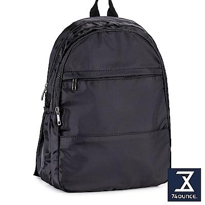 74盎司 輕便尼龍休閒簡約後背包[LG-851]黑