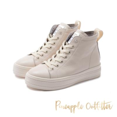 Pineapple Outfitter-CALLIAS 經典不敗真皮高筒帆布鞋-米色