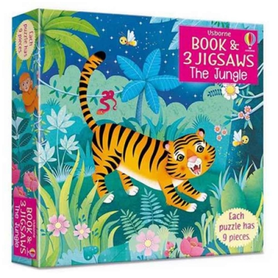 The Jungle Picture Book And Three Jigsaws 叢林拼圖遊戲書