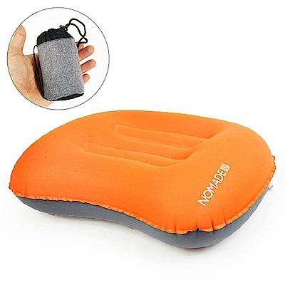 NOMADE 戶外便攜 折疊式充氣枕 -橘黃 -快速到貨