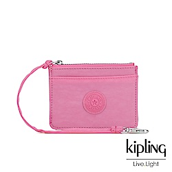 Kipling 甜美糖果粉多夾層證件零錢包-CINDY
