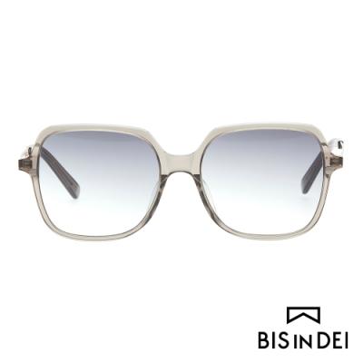 BIS IN DEI 簡單大方框太陽眼鏡-灰