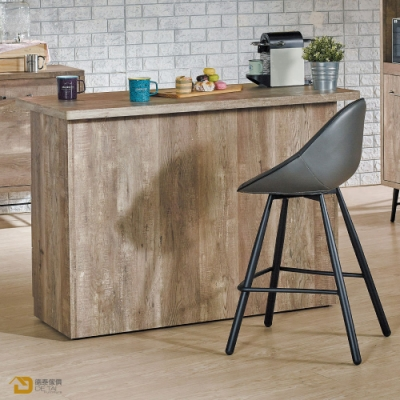 D&T 德泰傢俱 Corey 復古工業生活木紋桌面中島 寬130X深105X高92公分