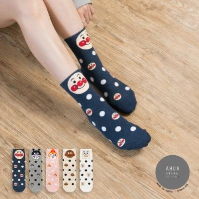阿華有事嗎 韓國襪子 圓點麵包超人中筒襪  韓妞必備長襪 正韓百搭純棉襪
