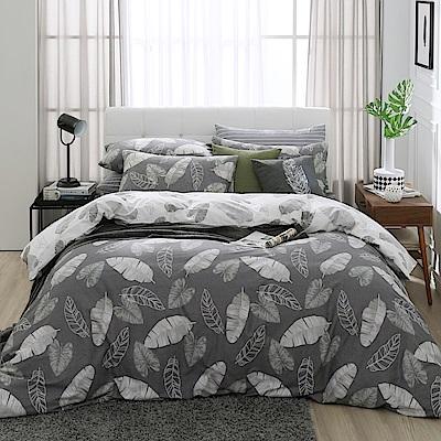 鴻宇 100%精梳棉 舞葉知秋 雙人加大四件式薄被套床包組