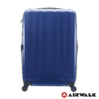 AIRWALK - 海岸線系列 BoBo經濟款ABS硬殼拉鍊28吋行李箱 - 晝日藍