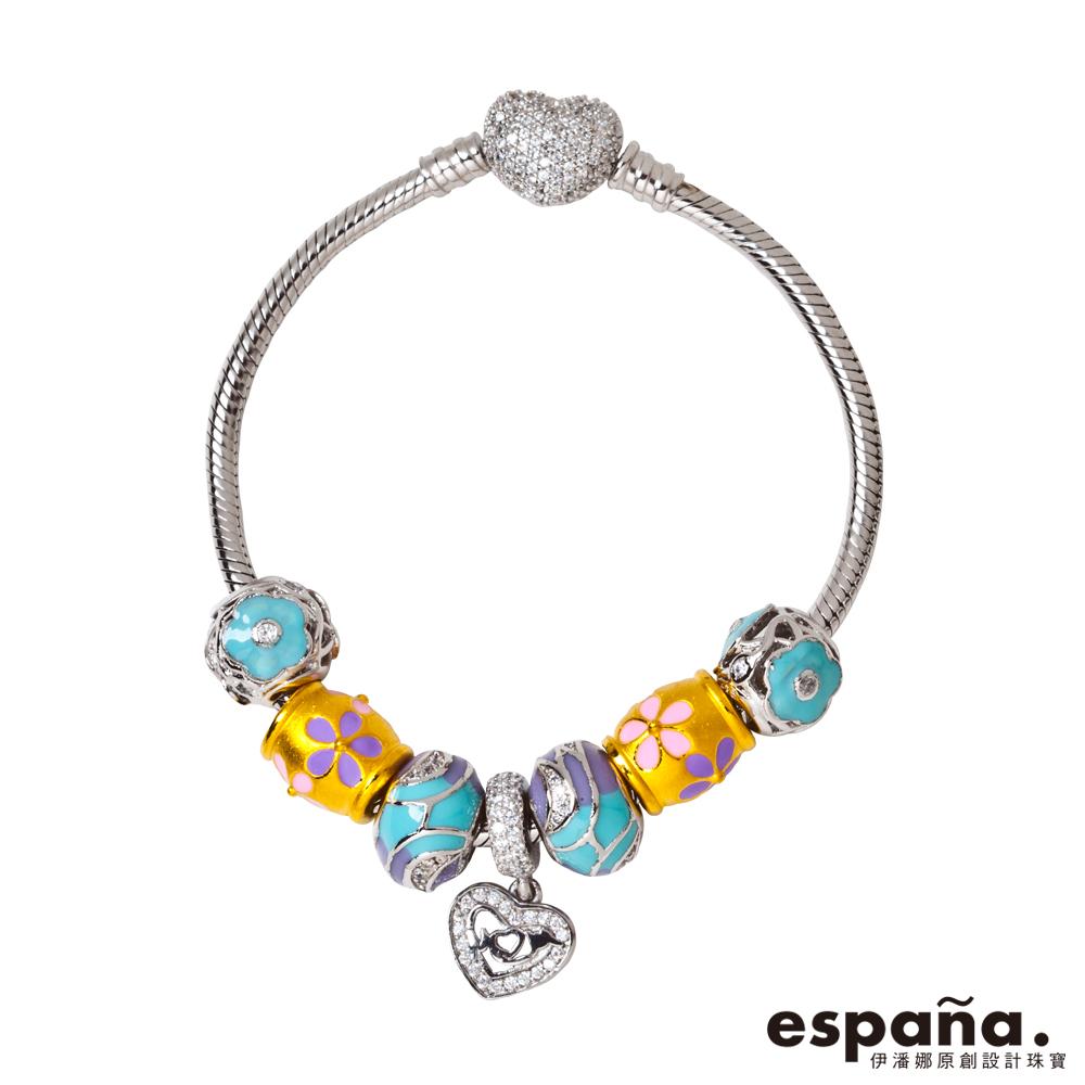ESPANA伊潘娜 讓愛起飛黃金/純銀/琺瑯串珠手鍊