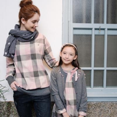 PIPPY 粉紅格紋 平織洋裝 粉色