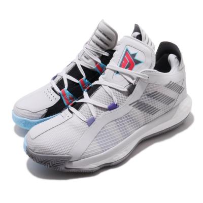adidas 籃球鞋 Dame 6 GCA 運動 男鞋 愛迪達 三線 李拉德 密技 8 bit字體 灰 黑 FX2085