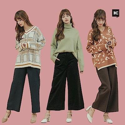 [時時樂限定] H:CONNECT 女裝 – 冬季寬褲大賞-四款