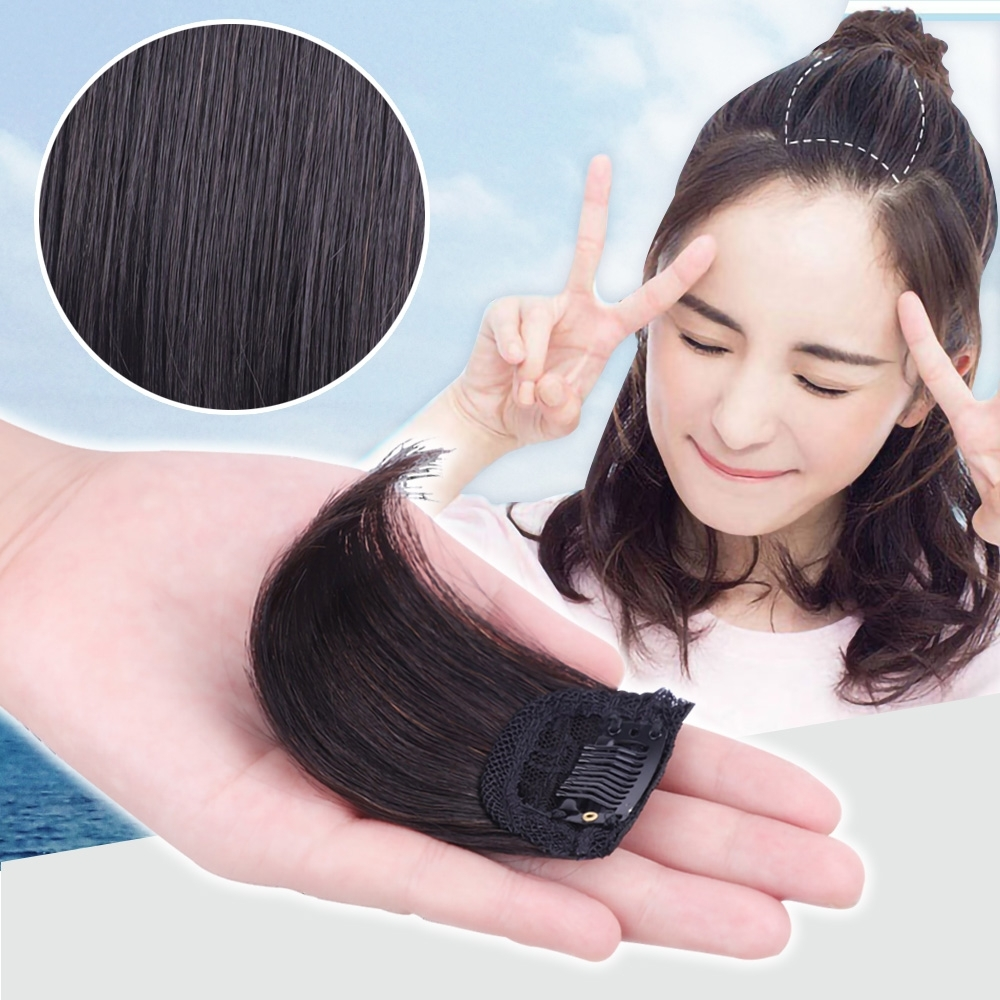 EZlife一片式自然隱形蓬鬆墊髮片