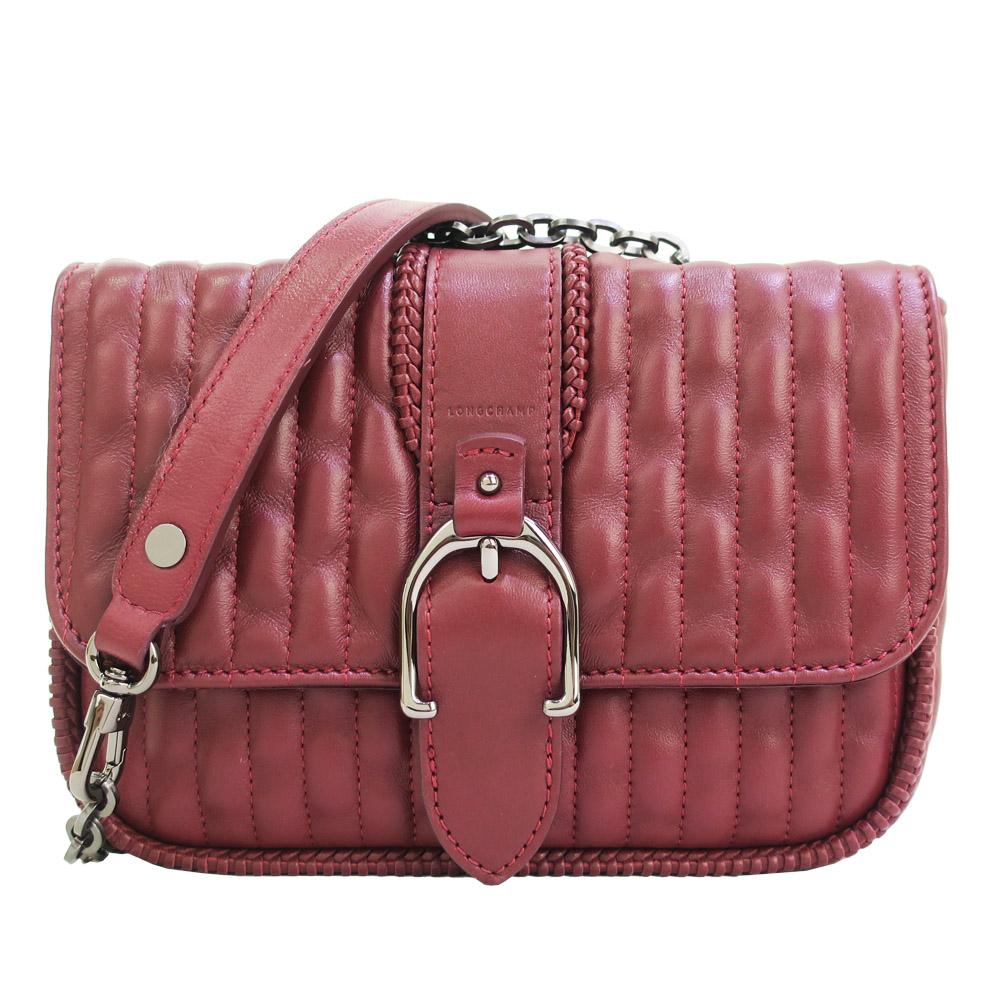 Longchamp AMAZONE 鏈帶荷篷包-酒紅/小LONGCHAMP