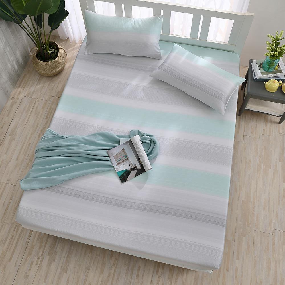 DESMOND岱思夢 單人100%天絲床包枕套二件組 沿溪