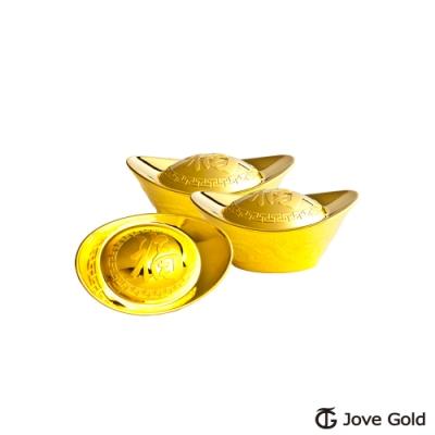 Jove Gold 漾金飾 0.5台錢加大版黃金元寶x3-福(共1.5台錢)