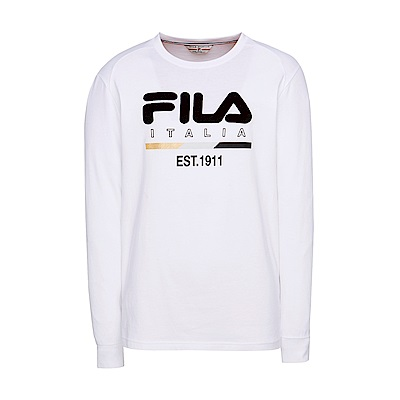 FILA男圓領T恤-白 1TES-5404-WT