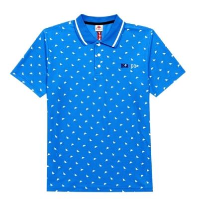 KAPPA義大利 時尚型男舒適吸濕排汗POLO衫 義大利藍 33164CWE21