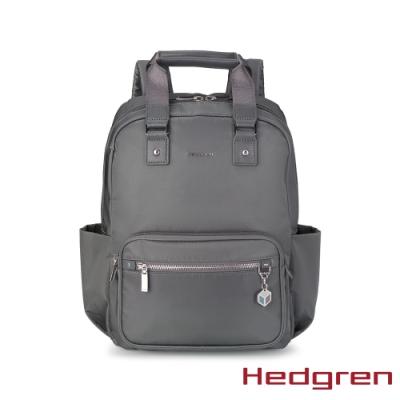 【Hedgren】CHARM旅行雙側袋13 後背包-鐵黑
