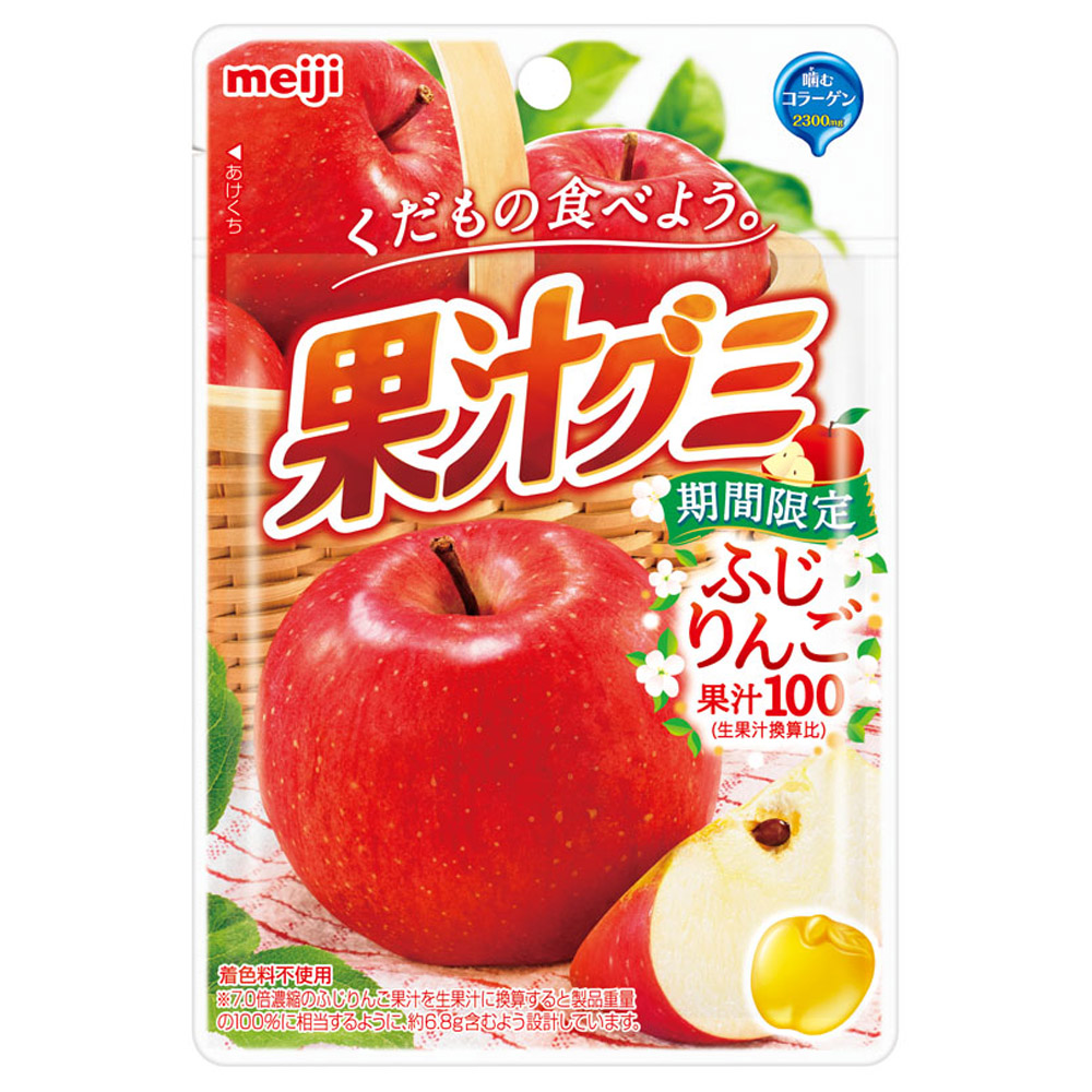 明治 果汁QQ軟糖-富士蘋果口味(47g)
