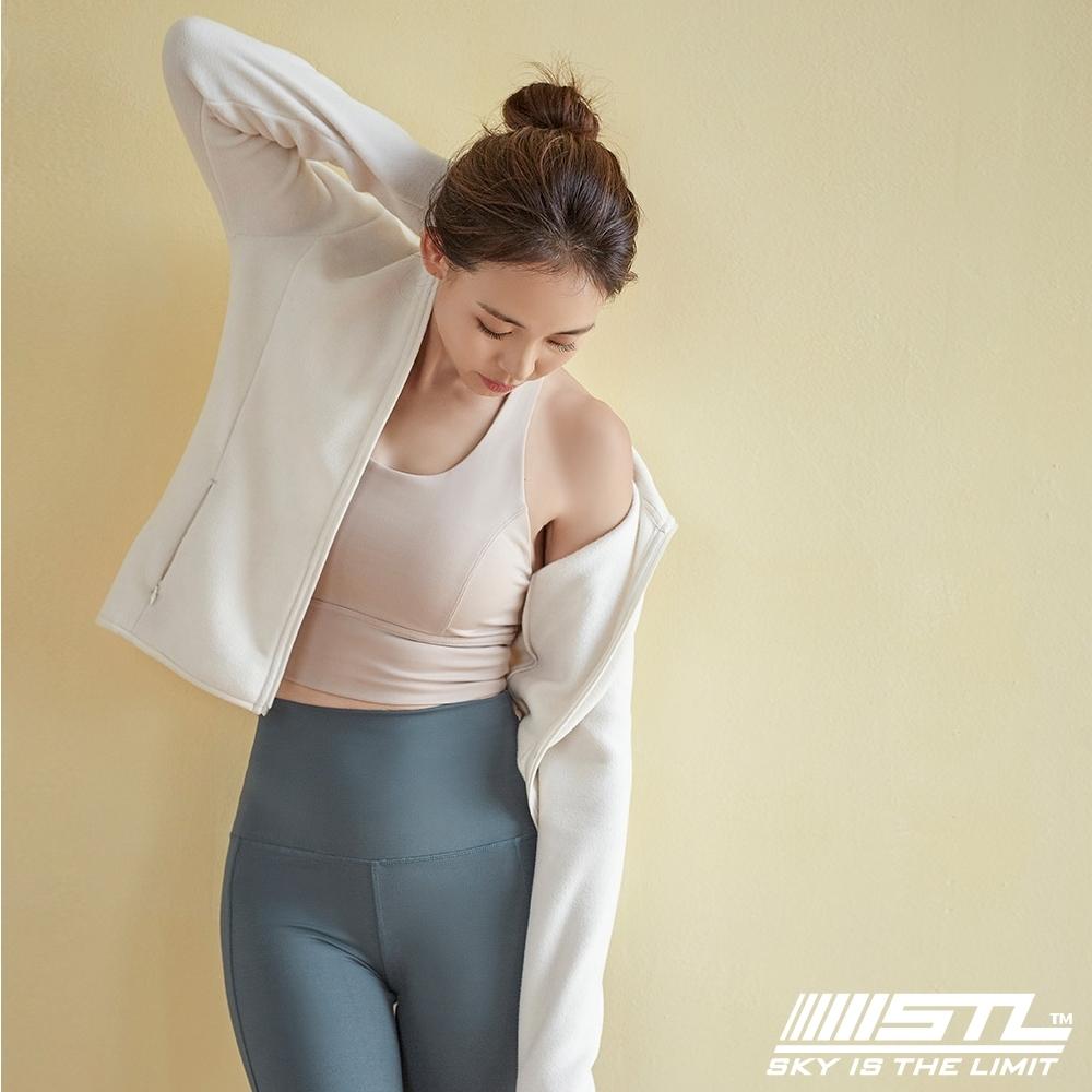 STL Pola Police 韓國立領運動機能刷毛外套 米白