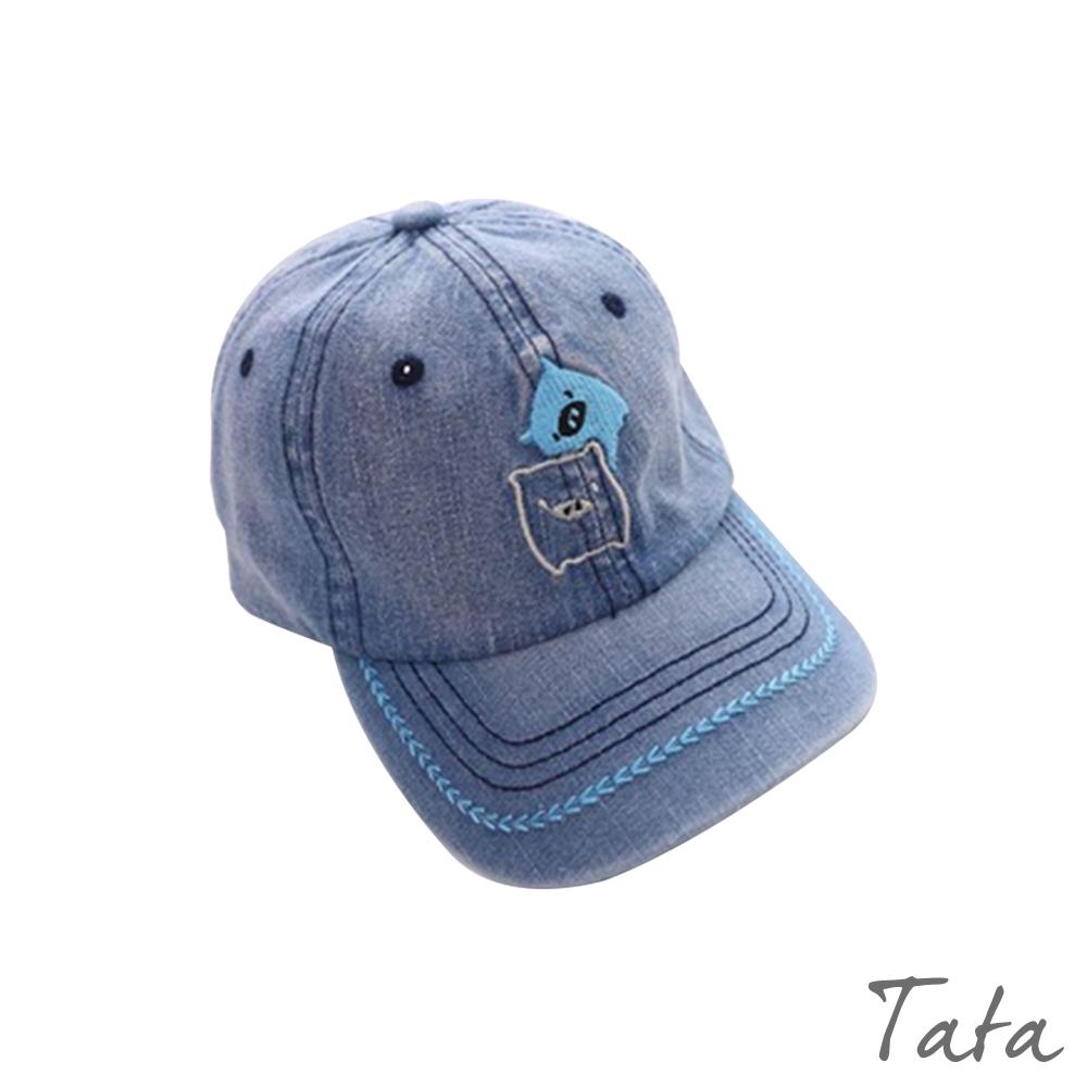 童裝 小豬刺繡牛仔鴨舌帽 TATA KIDS