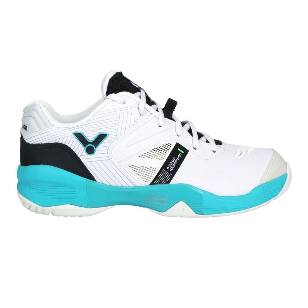 VICTOR 男羽球鞋-訓練 運動 勝利 寬楦 3E P9200II-AU 白黑藍綠