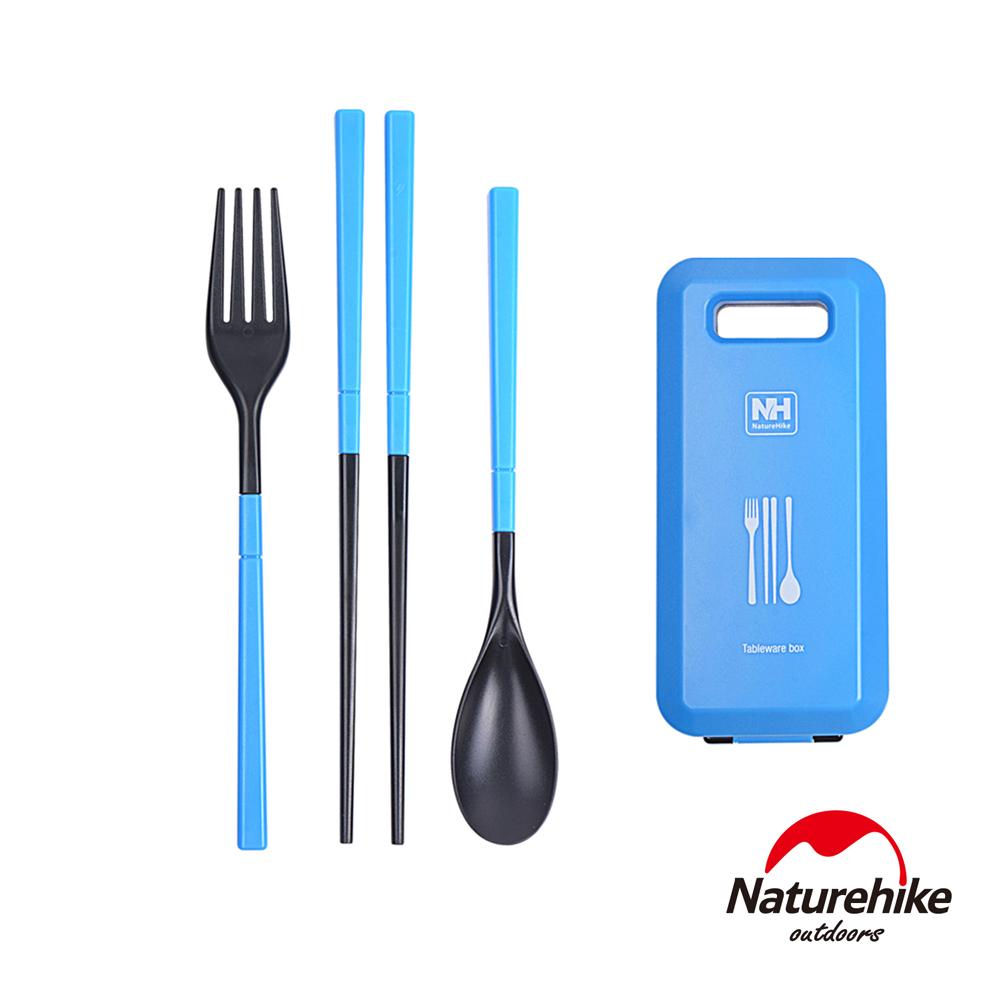 Naturehike 戶外輕巧旅行餐具組 天藍-急