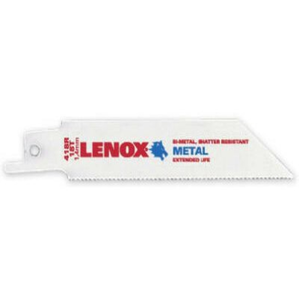 """狼牌 LENOX 418R 長 4"""" 齒數 18T 厚金屬用軍刀鋸片 雙金屬軍刀切割用切片(5片裝)"""