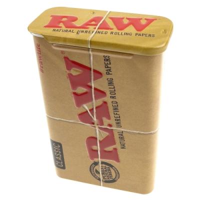 RAW-西班牙進口Slide Top Tin-滑蓋式馬口鐵收納盒(煙盒/捲煙紙盒/煙草盒)