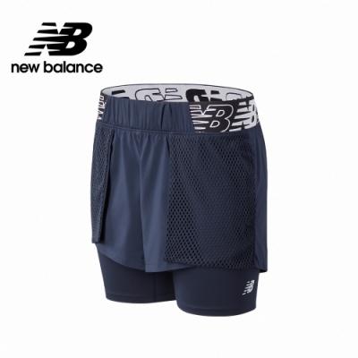 【New Balance】兩件式短褲_女性_深藍_WS11175ECL