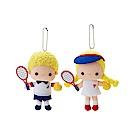 Sanrio PATTY&JIMMY活力網球系列造型玩偶吊鍊組(一組2個入)